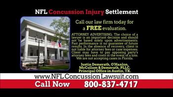 NFL Concussion Lawsuit TV Spot, 'NFL Football Player Compensation' - Thumbnail 5