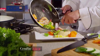CeraPan Perfect Grip TV Spot, 'World's Best Grip and Cooking Surface' - Thumbnail 5