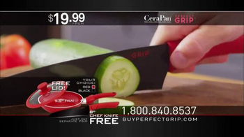 CeraPan Perfect Grip TV Spot, 'World's Best Grip and Cooking Surface' - Thumbnail 8