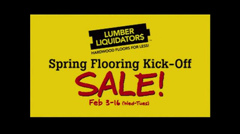 Lumber Liquidators Spring Flooring Kick-Off Sale! TV Spot, 'All Styles' - Thumbnail 9