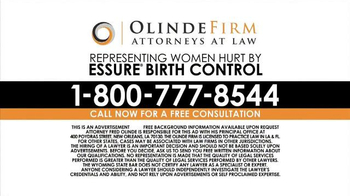 Olinde Firm TV Spot, 'Essure Birth Control Complications Lead to Lawsuits' - Thumbnail 5