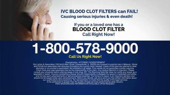 Gori Julian Law TV Spot, 'Blood Clot Filter' - Thumbnail 8