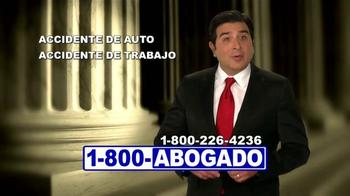 1-800-ABOGADO TV Spot, 'Representante de los accidentes' [Spanish] - Thumbnail 1