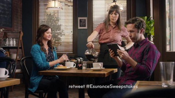 Esurance Super Bowl 2016 TV Spot, 'Pass It On Sweepstakes' - 1 commercial airings