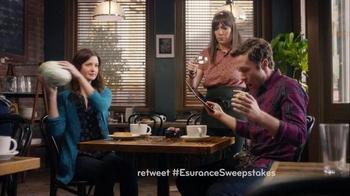 Esurance Super Bowl 2016 TV Spot, 'Pass It On Sweepstakes' - Thumbnail 3