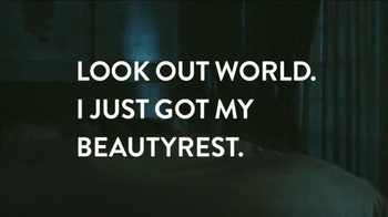 Beautyrest Hybrid Lines TV Spot, 'Look Out World: Champagne' - Thumbnail 9