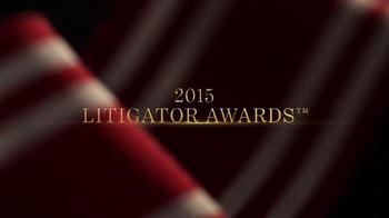 Trial Lawyers Board of Regents TV Spot, '2015 Litigator Awards'