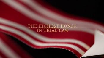 Trial Lawyers Board of Regents TV Spot, '2015 Litigator Awards' - Thumbnail 4