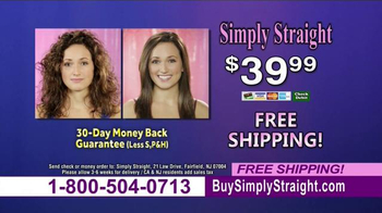 Simply Straight TV Spot, 'Brush Your Curly Hair Straight' - Thumbnail 10