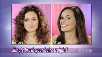 Simply Straight TV Spot, 'Brush Your Curly Hair Straight' - Thumbnail 3