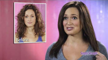 Simply Straight TV Spot, 'Brush Your Curly Hair Straight' - Thumbnail 5