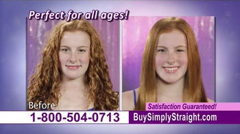 Simply Straight TV Spot, 'Brush Your Curly Hair Straight' - Thumbnail 7