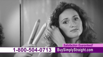Simply Straight TV Spot, 'Brush Your Curly Hair Straight'