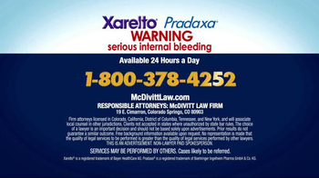 McDivitt Law Firm TV Spot, 'Xarelto & Pradaxa' - Thumbnail 5