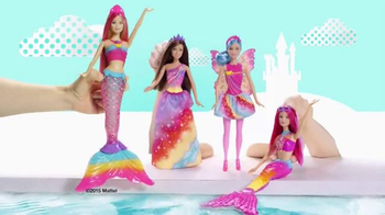 Barbie Dreamtopia Rainbow Lights Mermaid TV Spot, 'Watch Her Glow' - Thumbnail 2