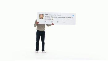 Apple iPad Pro TV Spot, 'Better Than a Computer' - Thumbnail 1