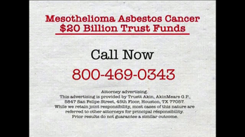 AkinMears TV Spot, 'Mesothelioma Asbestos Cancer Trust Funds' - Thumbnail 5