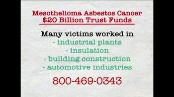 AkinMears TV Spot, 'Mesothelioma Asbestos Cancer Trust Funds' - Thumbnail 3