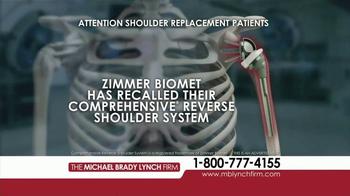Michael Brady Lynch Firm TV Spot, 'Shoulder Replacement Recall' - Thumbnail 1