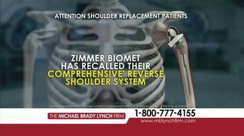 Michael Brady Lynch Firm TV Spot, 'Shoulder Replacement Recall' - Thumbnail 2