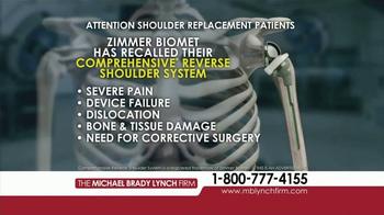 Michael Brady Lynch Firm TV Spot, 'Shoulder Replacement Recall' - Thumbnail 3