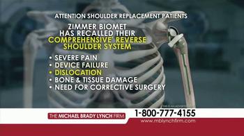 Michael Brady Lynch Firm TV Spot, 'Shoulder Replacement Recall' - Thumbnail 4