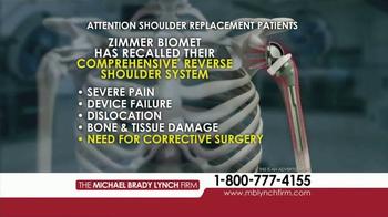 Michael Brady Lynch Firm TV Spot, 'Shoulder Replacement Recall' - Thumbnail 5