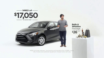 2017 Toyota Yaris iA TV Spot, 'The Bells & Whistles Package' [T1] - Thumbnail 8