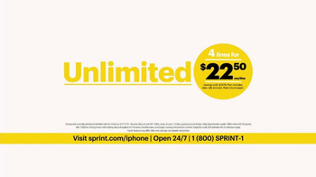 Sprint Unlimited Plan TV Spot, 'iPhone 7 & 4 Lines' - Thumbnail 7
