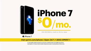 Sprint Unlimited Plan TV Spot, 'iPhone 7 & 4 Lines' - Thumbnail 5