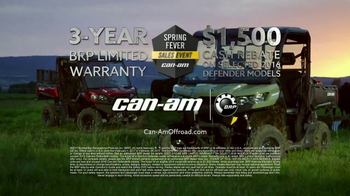 Can-Am Spring Fever Sales Event TV Spot, 'Defender: So Much Effort' - Thumbnail 10