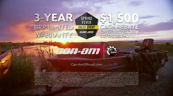 Can-Am Spring Fever Sales Event TV Spot, 'Defender: So Much Effort' - Thumbnail 8