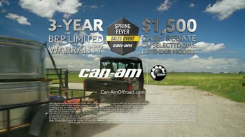 Can-Am Spring Fever Sales Event TV Spot, 'Defender: So Much Effort' - Thumbnail 9