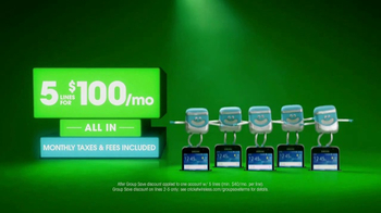 Cricket Wireless TV Spot, 'Five Lines for $100'