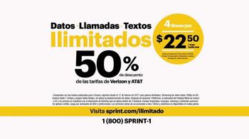 Sprint TV Spot, 'Menos de las tarifas de Verizon y AT&T' [Spanish] - Thumbnail 6