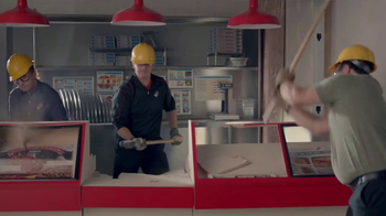 Domino's TV Spot, 'Blood, Sweat and Teardowns' - Thumbnail 7