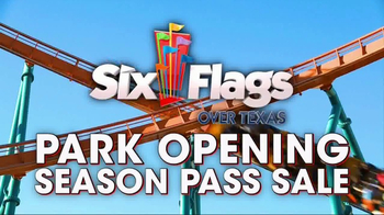 Six Flags Park Opening Season Pass Sale TV Spot, 'Now Open Weekends' - Thumbnail 2