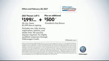 2017 Volkswagen Passat TV Spot, 'Presidents Day Bonus' [T2] - Thumbnail 6