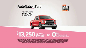 AutoNation Truck Month TV Spot, '2016 Ford F-150' - Thumbnail 5
