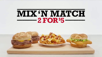 Arby's 2 for $5 TV Spot, 'Mix 'n Match: Past vs. Present' - 1113 commercial airings
