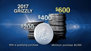 Lear Capital 2017 Grizzly Coin TV Spot, 'Government Guarantee' - 68 commercial airings