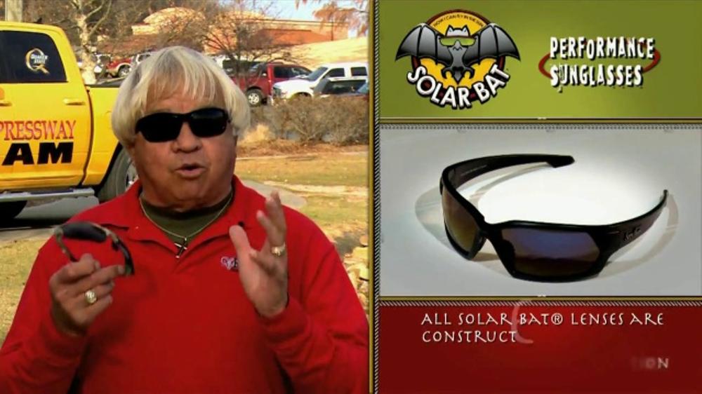 24d3d97c56 Solar Bat Jimmy Houston Signature Polarized Sunglasses TV Commercial ...