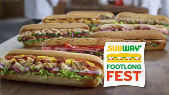 Subway Footlong Fest TV Spot, 'Any of Your Favorites' - Thumbnail 4