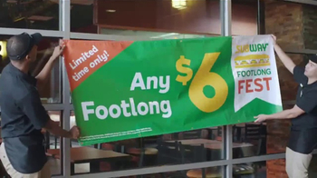 Subway Footlong Fest TV Spot, 'Any of Your Favorites' - Thumbnail 5
