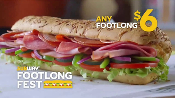 Subway Footlong Fest TV Spot, 'Any of Your Favorites' - Thumbnail 7