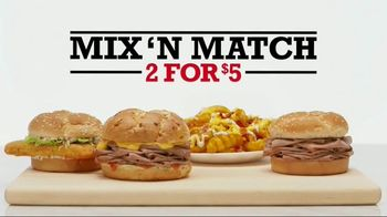 Arby's 2 for $5 Mix 'N Match TV Spot, 'Two by Two' - 1488 commercial airings