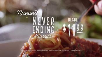 Olive Garden Never Ending Classics TV Spot, 'No tiene fin' [Spanish] - Thumbnail 1