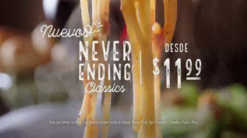 Olive Garden Never Ending Classics TV Spot, 'No tiene fin' [Spanish] - Thumbnail 2