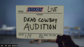 Snickers Super Bowl 2017 Teaser, 'Dead Cowboy Casting' - Thumbnail 1