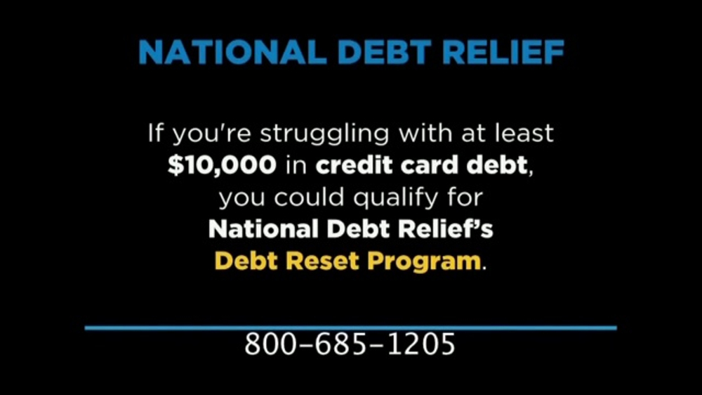 National Debt Relief TV Commercial Credit Card